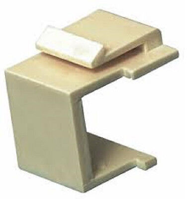 Faceplate Blank Insert - 50- Blank Keystone Filler Insert Faceplate Insert Ivory