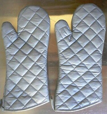 2 Pack Oven Mitts Gloves 15 Silicone Coated Restaurant Commercial Grade 200f