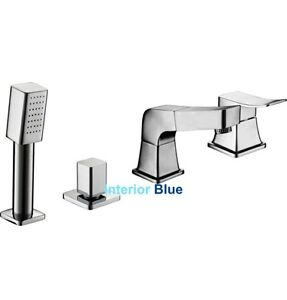 Deck-mount Tub Faucet with Spray Handle - Hot Deals !
