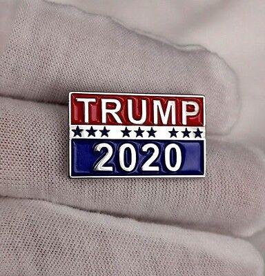 Trump 2020 Pin, Patriotic Republican Party Campaign Button, Raised Lettering