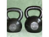 32kg & 24kg kettlebells