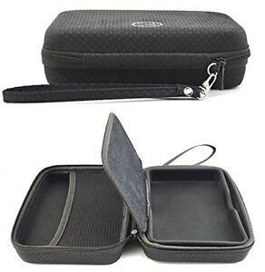 Black Hard Carry Case Garmin Nuvi 57LM 58LM GPS Sat Nav With Accessory Storage
