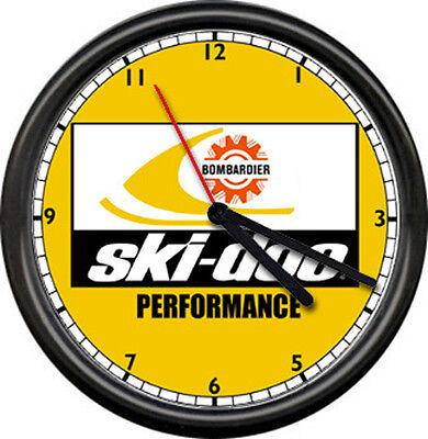 Ski-Doo Dealer Performance Retro Snowmobile Racing Machine Sign Wall Clock