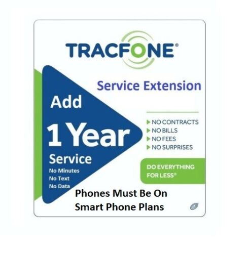 TracFone Service Extension 365 Days for Phones on SmartPhone Plans, Direct Load