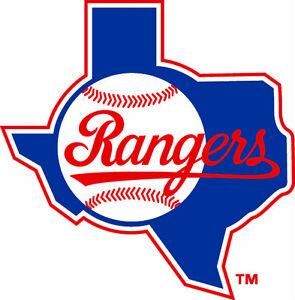 Texas Rangers MLB Color Die-Cut Decal / Car Sticker *Free Shipping