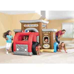 Little tikes Inflatable Indoor and Outdoor Play Fire Station