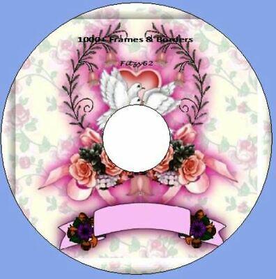 1000+ Frames & Borders - Art & Craft card making CD Rom