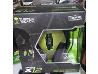 Turtle Beach X12 Amplified Stereo Gaming Headset - PC and Xbox 360 new