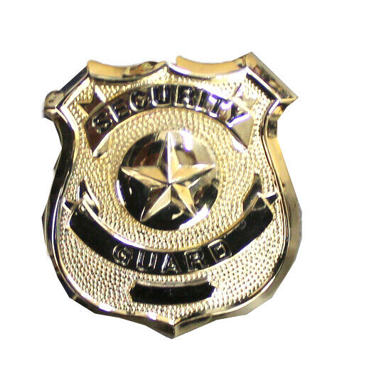 Gold Security Guard Badge by Solar 1