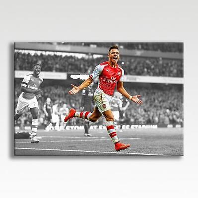 "Alexis Sanchez Arsenal Canvas Poster Print Picture Photo Wall Art 30"" x 20"""
