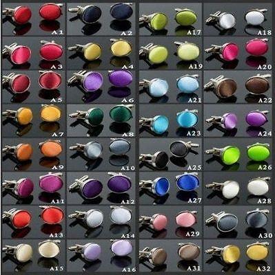 Manschettenknopf MANSCHETTENKNÖPFE Metall farbig Stoff zu Fliege Krawatte schmal