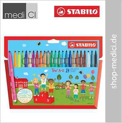 STABILO Fasermaler Filzstifte Trio® A-Z 24 Stück ergonomische Spitze