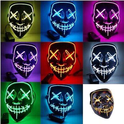 Mascara la Purga Disfraz Halloween Careta con Luz Led surtidas Miedo Carnaval  - Disfraz Halloween Miedo