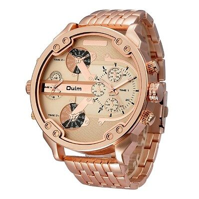 Oulm men\s watch, Mr Daddy 2 0 DZ7333 Gold Ion Plated Stainless Steel