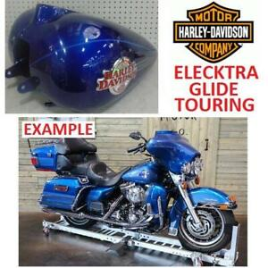NEW* HARLEY DAVIDSON GAS FUEL TANK 62207-06BYC 245851265 MOTORCYCLE DEEP COBALT BLUE