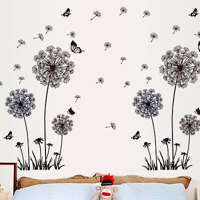 DIY Dandelion Fly Mural Removable Decal Room Wall Sticker Home Door Decor Vinyl