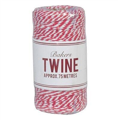 Garn Kordel Schnur Baumwolle Paketband Shabby Vintage pink weiß 75m Post NEU