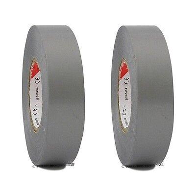 2 Rolls Gray Vinyl Pvc Electrical Tape 34 X 66 Flame Retardant Free Shipping