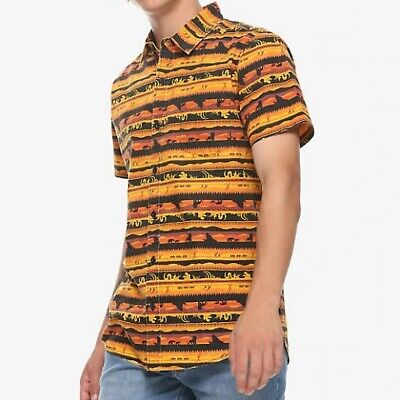 Disney The Lion King Hot Topic Button Up Shirt Size S BNWT