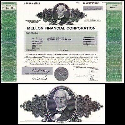 Mellon Financial Corporation PA 2006 Stock Certificate