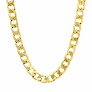 18KGP thick gold filled Cuban Link Necklace Chain Jewelry