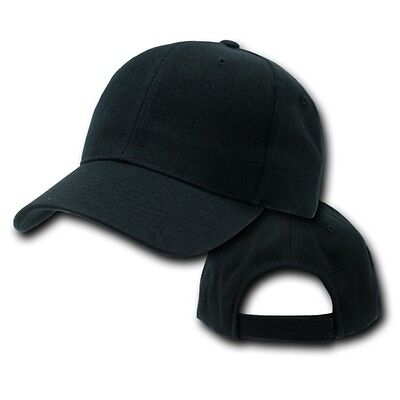 6585693dcd3 Black Plain Blank Solid Adjustable Golf Tennis Baseball Ball Cap Hat Caps  Hats