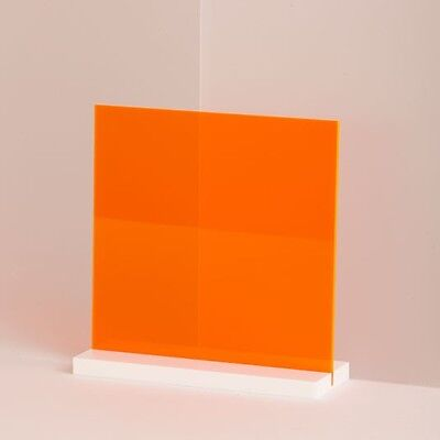 18 3mm Orange Neon Fluorescent Acrylic Plexiglass Sheet 12 X 12 Azm