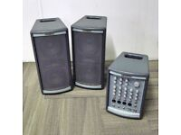 Kustom Profile One PA System: 2 speakers plus mixer. 100W output. £160 (£387 new)