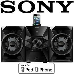 USED* SONY IPHONE/IPOD SPEAKER DOCK - 107596034 - 120 Watts Music System -MHCEC619iPN LIGHTING CONNECTION