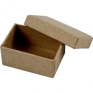Small Box with Lid - Plain Strong Cardboard - Mini Craft Decorate Present Gift