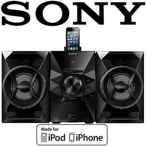 USED SONY IPHONE/IPOD SPEAKER DOCK 120 Watts Music System -MHCEC619iPN 106663227