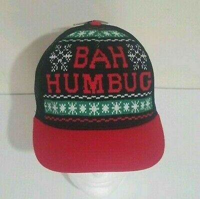 h Humbug Trucker Ugly Sweater Hat Snapback New Cap  (Bah Humbug Hat)