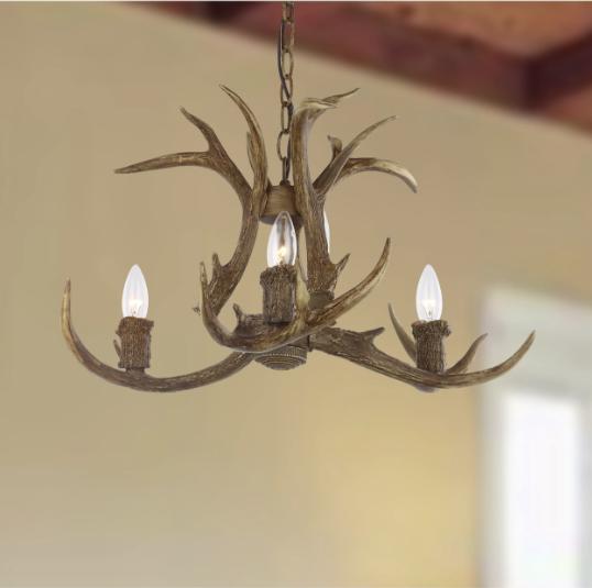 lighting 21 5 in antler chandelier ceiling