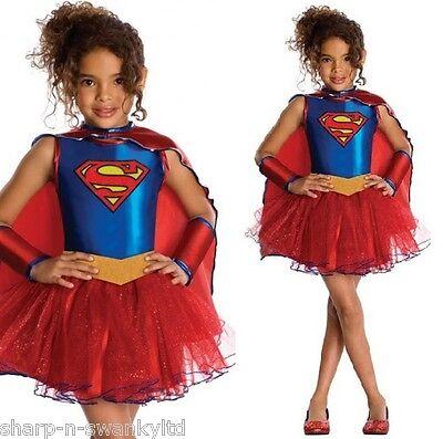 Mädchen Offiziell Lizenziert Supergirl Tutu Hero Büchertag Kostüm Kleid - Supergirl Tutu Mädchen Kostüm