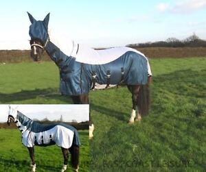 EQUIDOR-TULSA-HORSE-FLY-RUG-COMBO-FIXED-NECK-FREE-FLY-MASK-LARGE-BELLY-STRAP