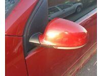 VW Golf Mk5 N/S Wing Mirror In Maroon (2006)