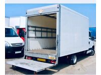 24/7 SHORT NOTICE MAN AND VAN HIRE.LUTON VAN WITH TAIL LIFT AVAILABLE CLEARANCE