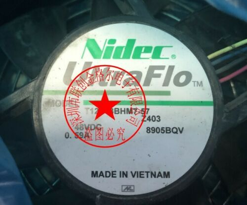 1pc NIDEC T12E48BHM7-57 48V 0.59A 12038 4Wire Fan 90 warranty #M298D QL