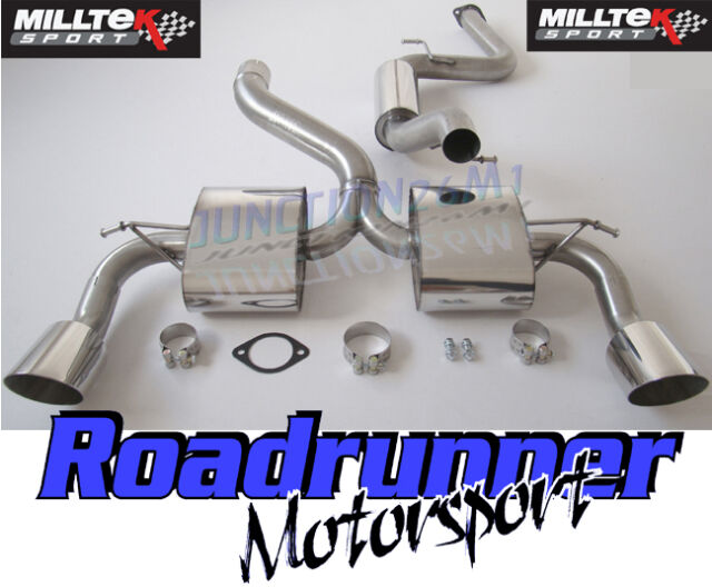 """Milltek SSXFD070 Focus RS MK2 Exhaust System Stainless 3"""" Cat Back Resonated"""