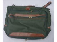 Green Folding Suitcase / Suit Carrier