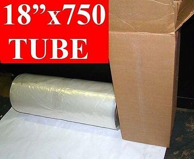 18 X 750 Long Poly Tubing Roll 2mil Tube 3 Core Free Shipping
