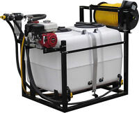 200-300 Gallon spray tank with motor, pump