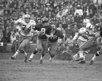 Washington Redskins SONNY JURGENSEN vs Cowboys BOB LILLY Glossy 8x10 Photo Print - Redskin Vs Cowboys