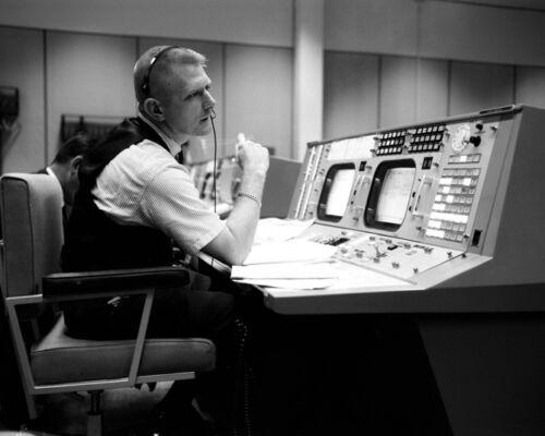 Mission Control GENE KRANZ Glossy 8x10 Photo Gemini 4 Simulation Poster NASA