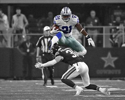 Dallas Cowboys EZEKIEL ELLIOTT Glossy 8x10 Photo Football Print Spotlight Poster
