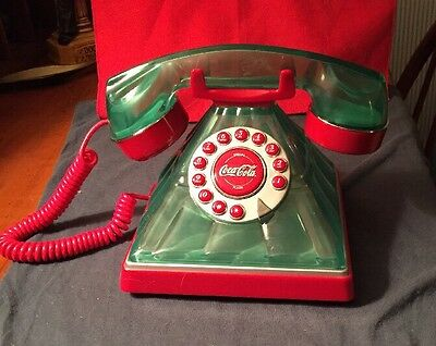 Retro Coca Cola Green & Red Bottle Style Phone 2005 w/ Box And Instructions NIB