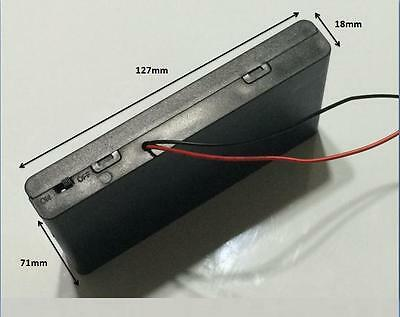 1 Pcs New 8 AA 2A Cells Battery 12V Clip Holder Box Case with Switch Black