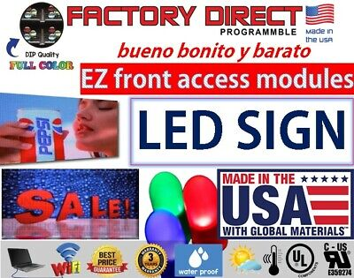 Led Sign Programmable Electronic Board Full Color Led Signs Fldisplay 32 X 88