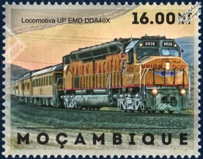 Union Pacific (UP) EMD DDA40X Centennial 6936 Train Stamp (2012 Mozambique)
