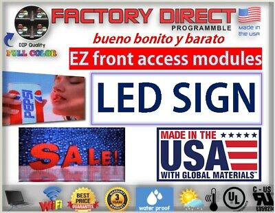 Led Sign Programmable Electronic Board Full Color Outdoor Led Display 25 X 50
